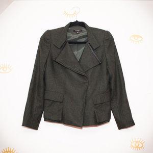 Ann Taylor Petite Short Gray Wool Jacket Coat 6p